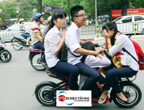 Xe đạp điện chở nặng sẽ nhanh hết điện hơn