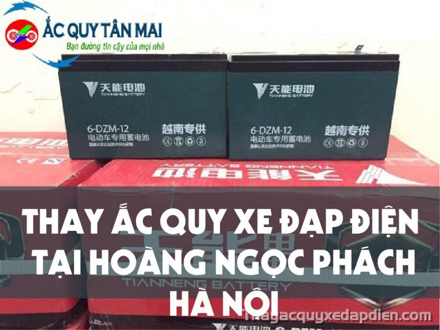 Thay ắc quy xe đạp điện tại Hoàng Ngọc Phách, Hà Nội